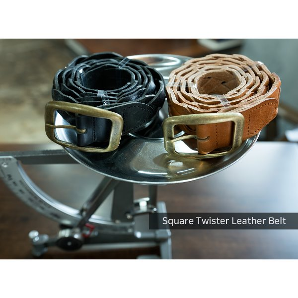 Square Twister Leather Belt