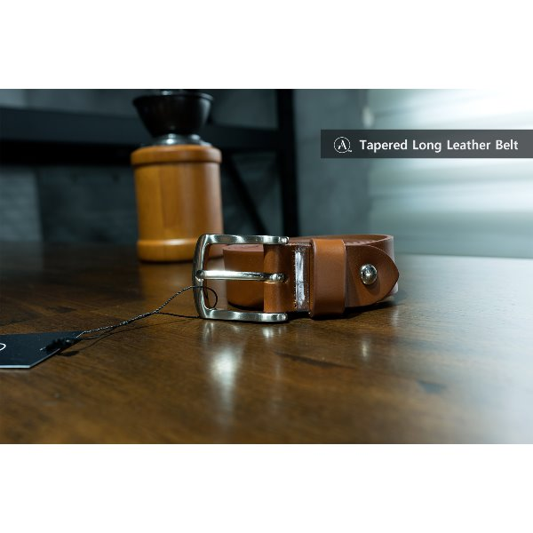 Tapered Long Leather Belt